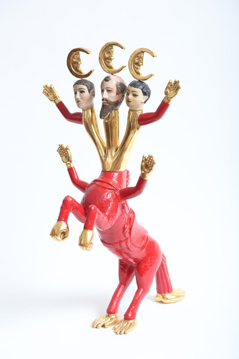 Late 20th Century Pedro Friedeberg Minotaur Sculpture For Sale