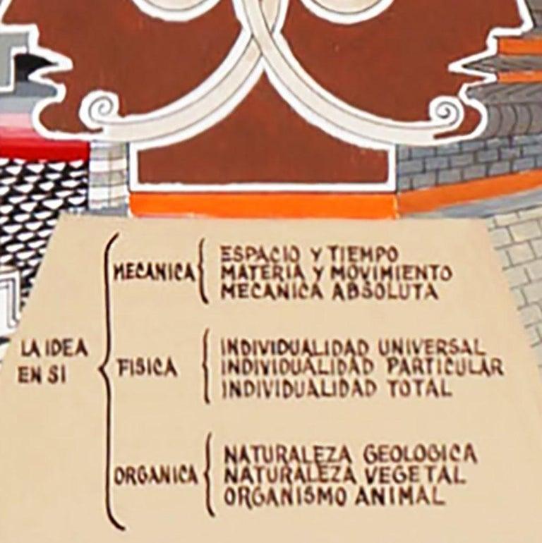 Pedro Friedeberg Painting Obelisco Obelisco Hegeliano In Excellent Condition In Mérida, Yucatan