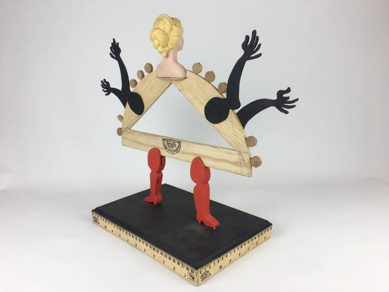 Mexican Pedro Friedeberg wood sculpture