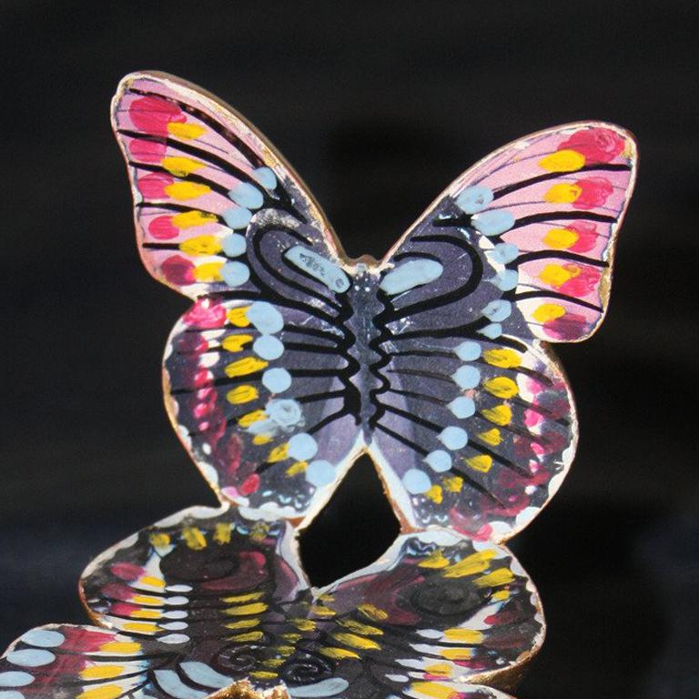 Butterfly Chair - Folk Art Sculpture by Pedro Friedeberg