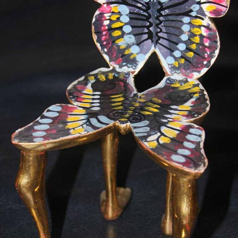 Butterfly Chair - Brown Figurative Sculpture by Pedro Friedeberg