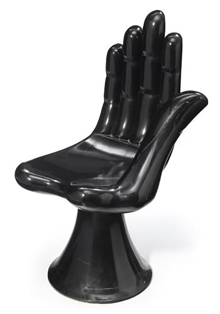 Pair of Hand Chairs in black