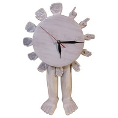 Pedro Friedeberg Surrealistic Sculptural Ceramic Mantel Clock