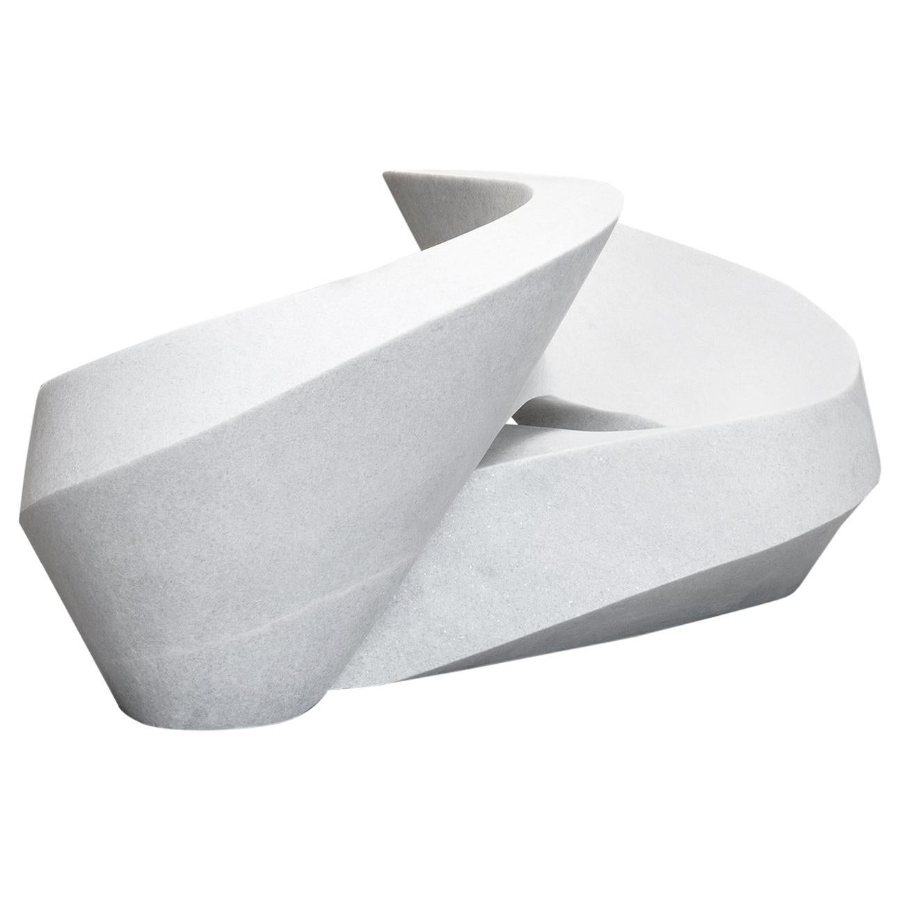 Pedro Reyes, White Marble Infinity Chair, 2018 Contemporary Mexican Design