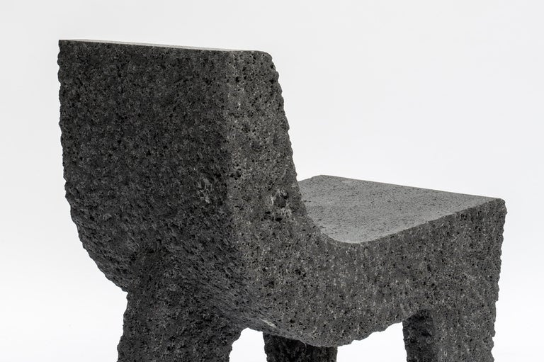 Stone Pedro Reyes, Metate Chair, Mexico, 2018 For Sale