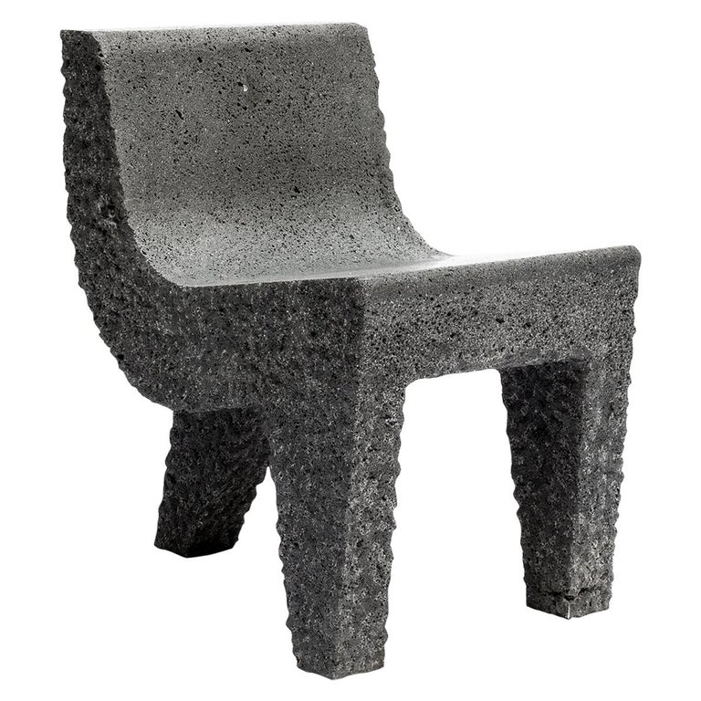 Pedro Reyes, Metate Chair, Mexico, 2018 For Sale