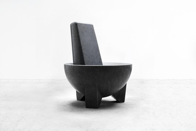 Mexican Pedro Reyes, Molcajete Chair 'Mortar Chair', Mexico 2018 For Sale