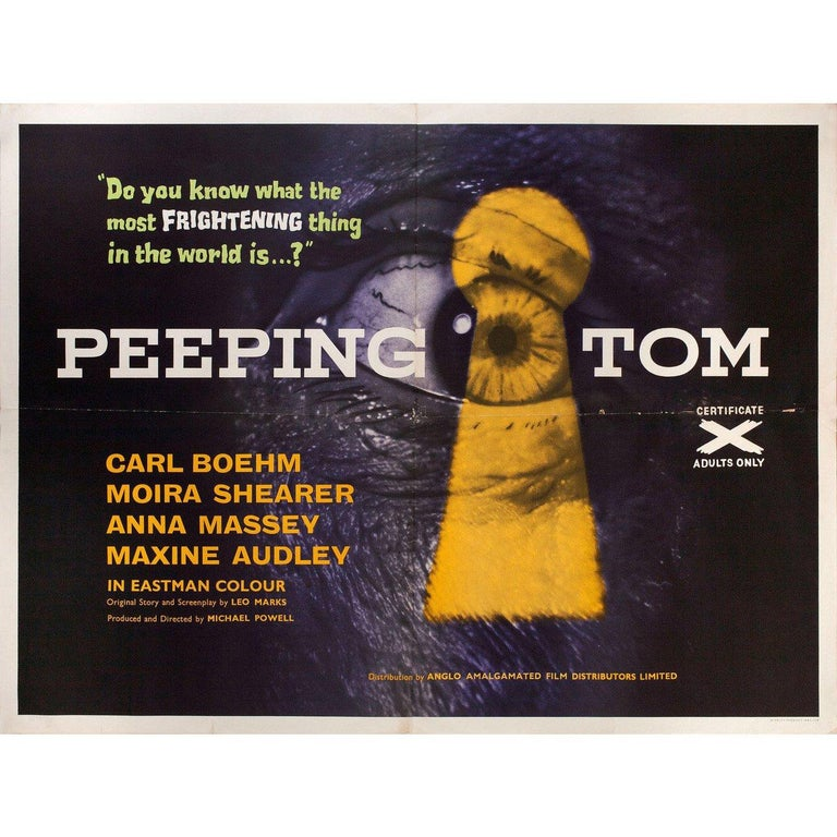 Original 1960 British quad poster for. Very good-fine condition, folded. Many original posters were issued folded or were subsequently folded. Please note: the size is stated in inches and the actual size can vary by an inch or more.