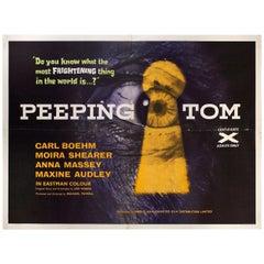 """""""Peeping Tom"""" 1960 British Quad Film Poster"""