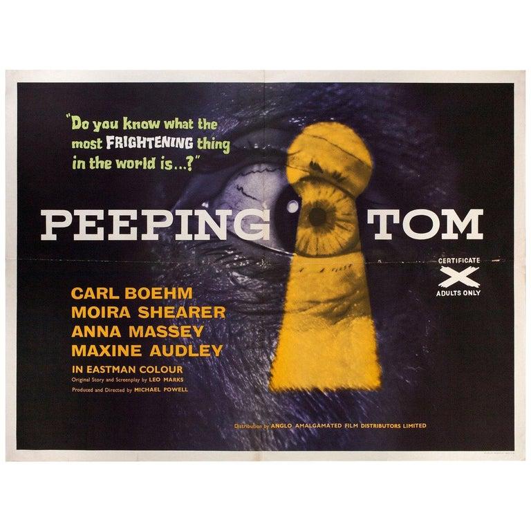 """""""Peeping Tom"""" 1960 British Quad Film Poster For Sale"""