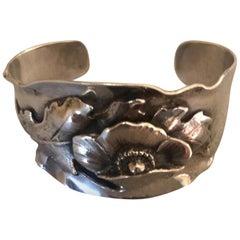 Peer Smed Sterling Silver Large Cuff Bracelet