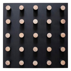 Peg Work Black Square Minimalist Art by Bradley Duncan Studio