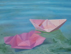 """""""Keeping Floating"""", Oil Painting"""