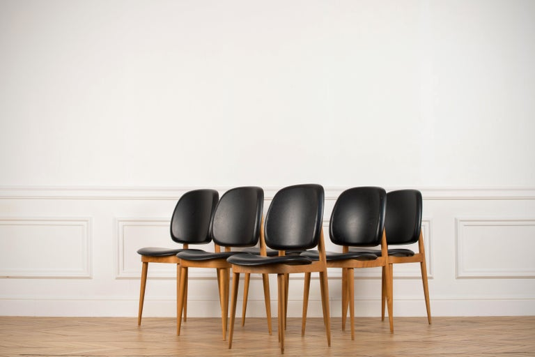 'Pegase' Chairs by Pierre Guariche, France, 1960s For Sale 3