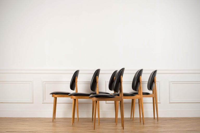 'Pegase' Chairs by Pierre Guariche, France, 1960s For Sale 6