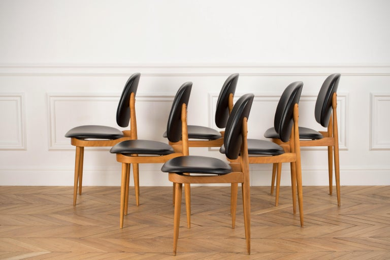 'Pegase' Chairs by Pierre Guariche, France, 1960s For Sale 7