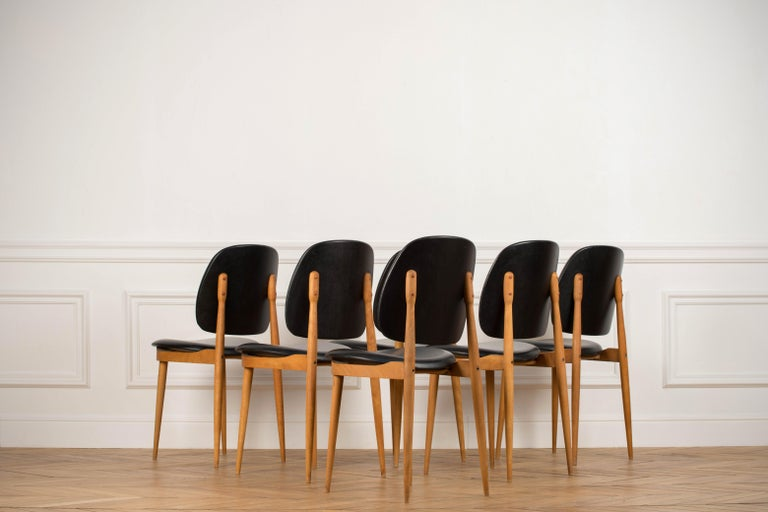 'Pegase' Chairs by Pierre Guariche, France, 1960s For Sale 10