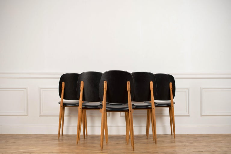 'Pegase' Chairs by Pierre Guariche, France, 1960s For Sale 11