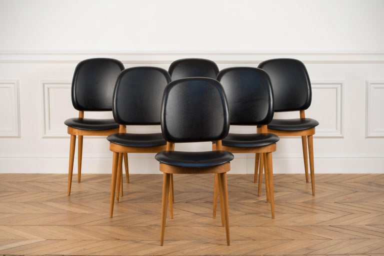'Pegase' Chairs by Pierre Guariche, France, 1960s In Good Condition For Sale In Asnières-sur-Seine, France
