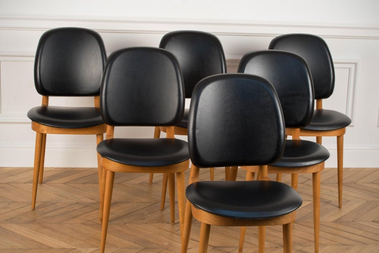 Mid-20th Century 'Pegase' Chairs by Pierre Guariche, France, 1960s For Sale