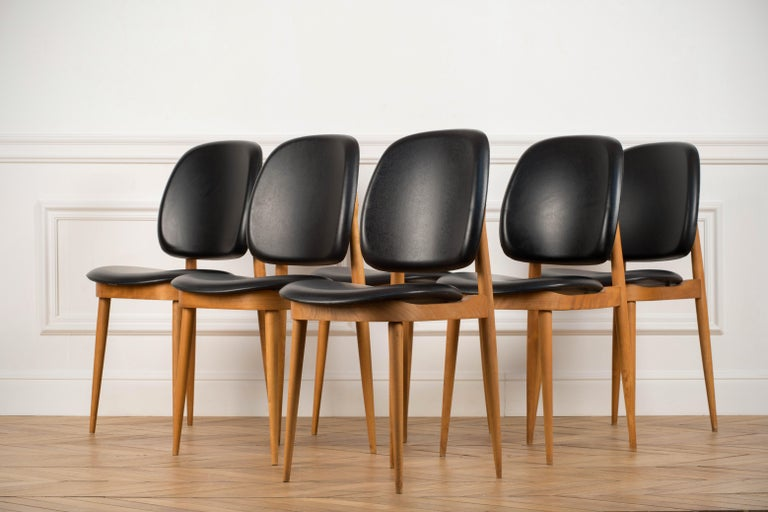 'Pegase' Chairs by Pierre Guariche, France, 1960s For Sale 2