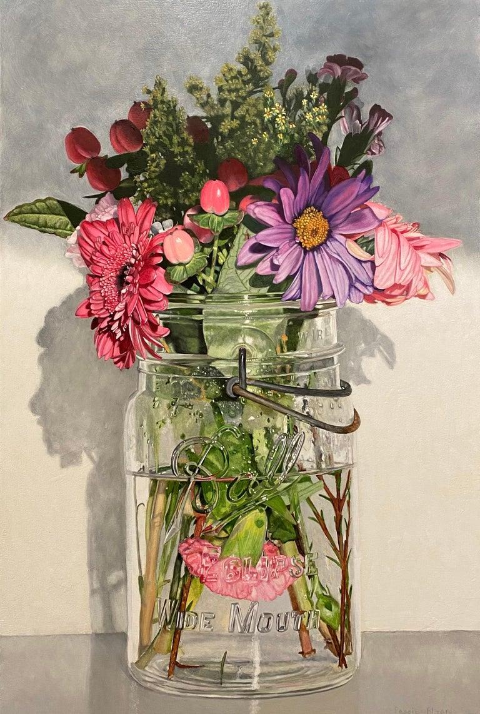 Peggie Blizard Still-Life Painting - An Ideal Eclipse, Part III