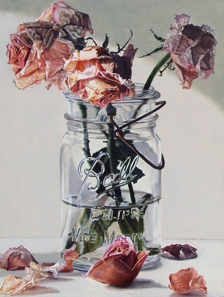 Peggie Blizard Still-Life Painting - Dried Roses