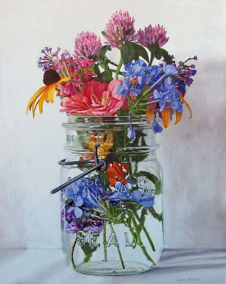 Peggie Blizard Still-Life Painting - Three Clovers