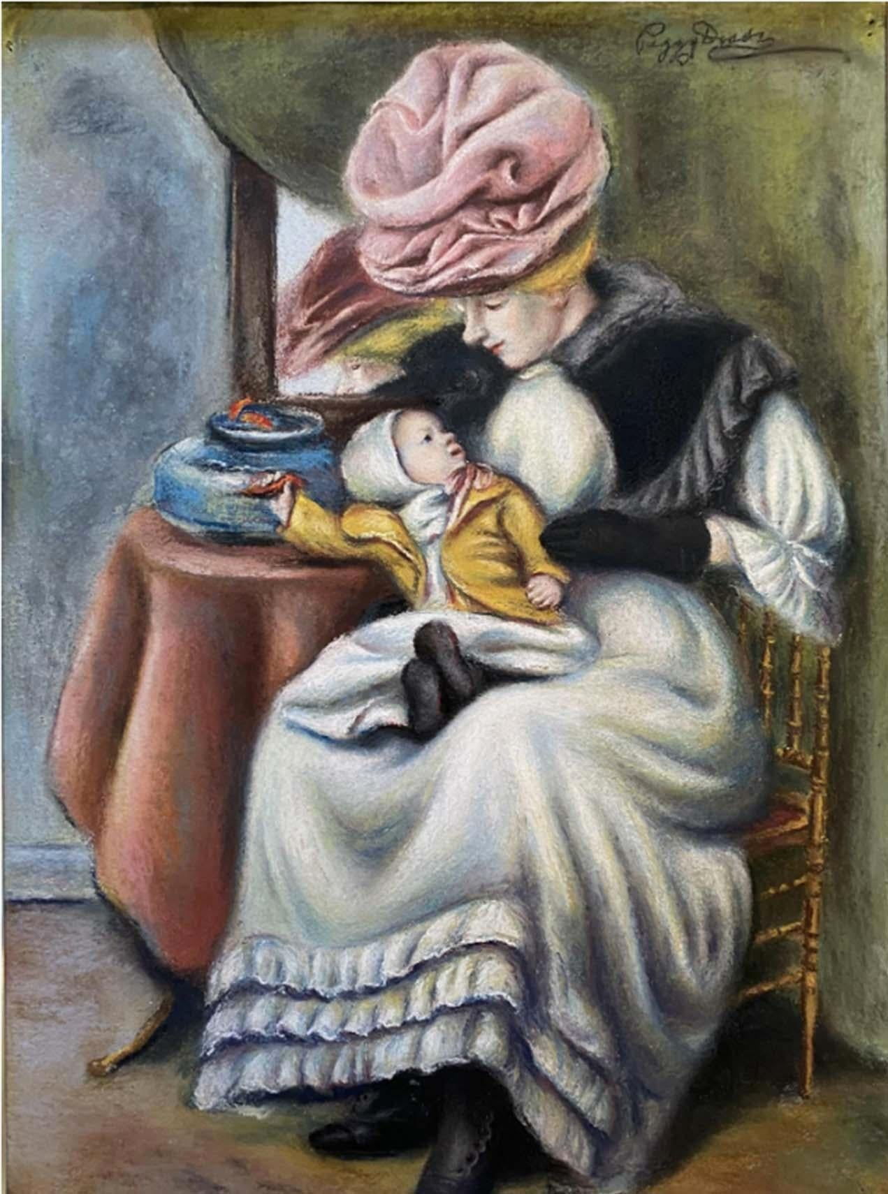 Mother and Child with Goldfish
