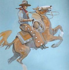 A Fresh One! (portrait, cowboy, horse, blue)