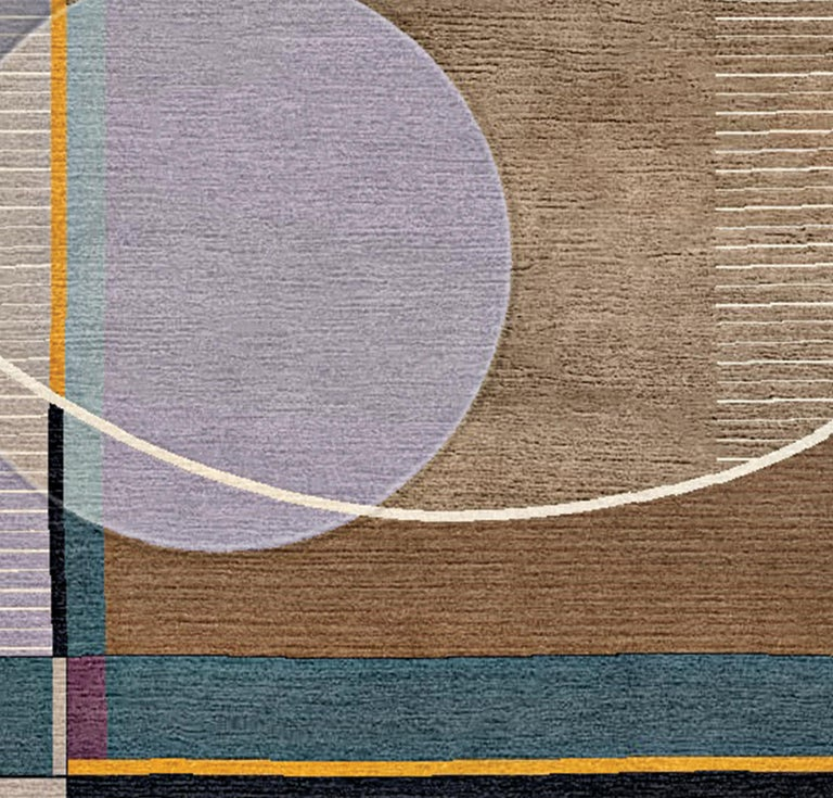 Nepalese Peggy, Meet Max Hand-Tufted Wool and Viscose Rug For Sale