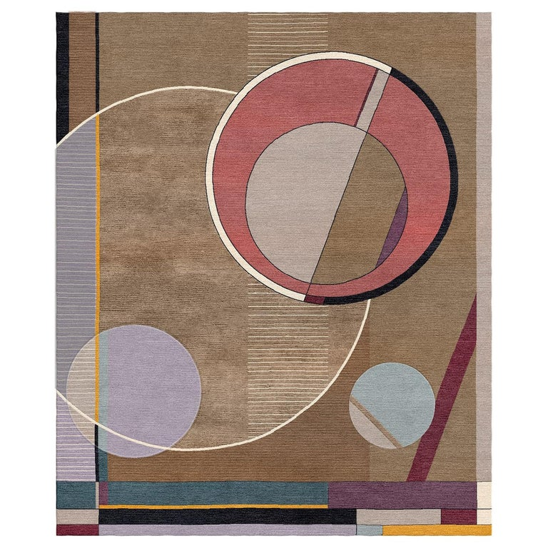 Peggy, Meet Max Hand-Tufted Wool and Viscose Rug For Sale
