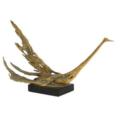Peggy Reventlow Original Bronze Bird Sculpture