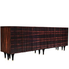 Pegu Cabinet by DeMuro Das in Hand-Laid Macassar Ebony with Bronze Caps