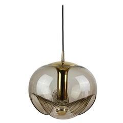 Pair of Peill and Putzler Extra Large Biomorphic Pendant Light / Lamp circa 1975