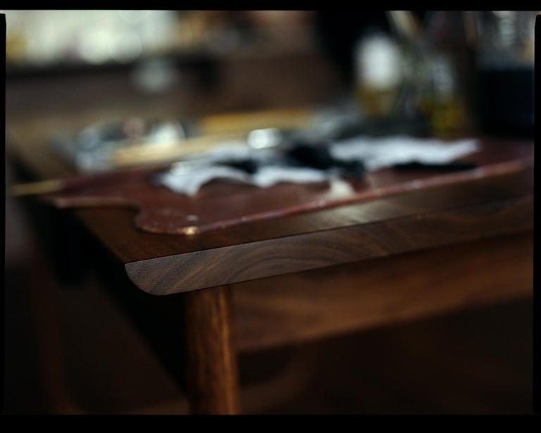 American Peizi Desk in Solid Walnut by Bowen Liu For Sale