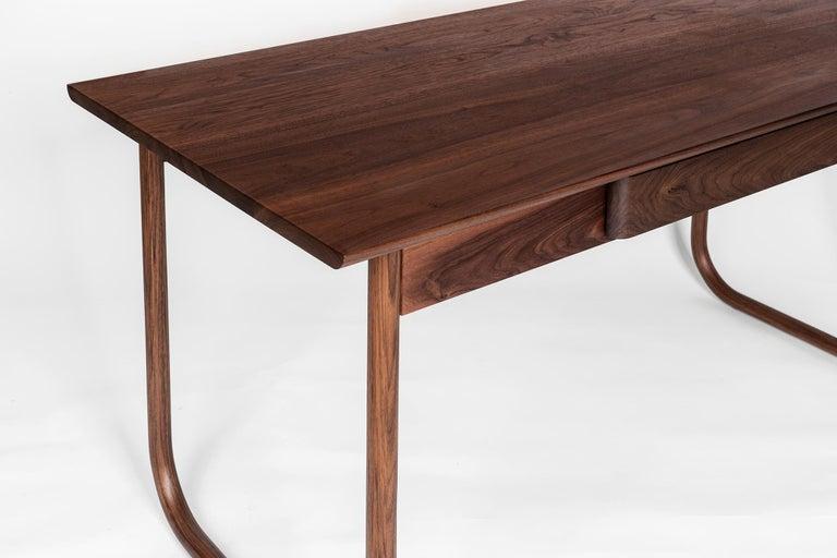 Woodwork Peizi Desk in Solid Walnut by Bowen Liu For Sale