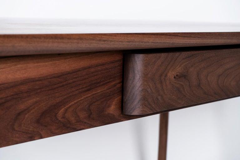 Peizi Desk in Solid Walnut by Bowen Liu In New Condition For Sale In Brooklyn, NY