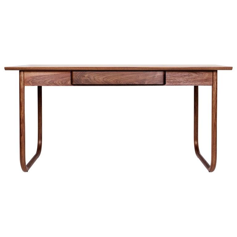 Peizi Desk in Solid Walnut by Bowen Liu For Sale