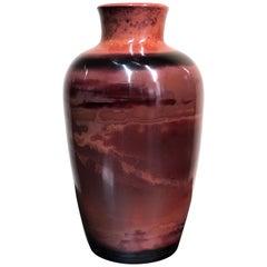Peking Chinese Glass Vase, serpentine stone banded, circa 1900