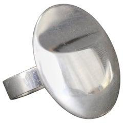 Pekka Piekäinen, 1972, Finnish Modernist Ring in Sterling Silver