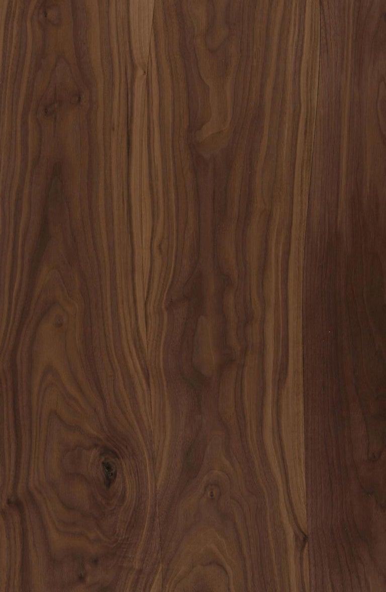 Bespoke Pelios Console Table in Wood Veneer, Marble Surface and Metal Legs For Sale 2