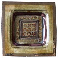 Pelletier Ceramic Vide-Poche or Decorative Plate in Deep Gold Tones, France