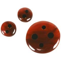 Pellini Bijoux Bakelite Dot Set