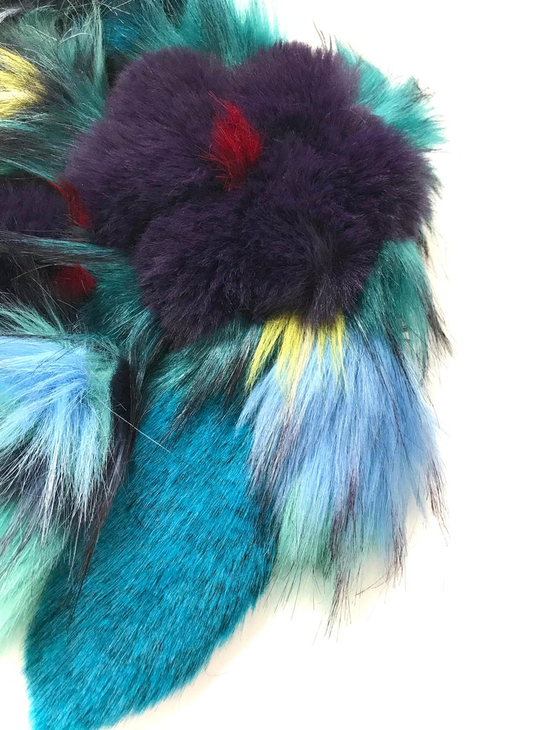 The Gardenia Pelush faux fur collar with three dimensional flowers is a one of a kind exclusive Couture piece. Featuring the highest quality man made pelage, this extraordinary fur free collar has the most beautiful replicas of the chinchilla, fox