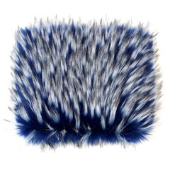 Pelush Cobalt Blue Faux Fur Fox Hat - Oversized