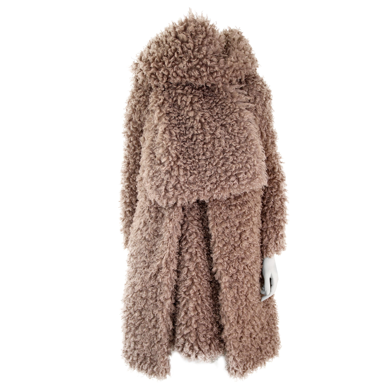 Pelush Faux Fur Curly Boucle' Poodle Coat - Small