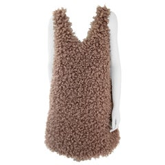 Pelush Faux Fur Mini Dress - Curly Boucle' Poodle Faux Fur Dress - Reversible -S