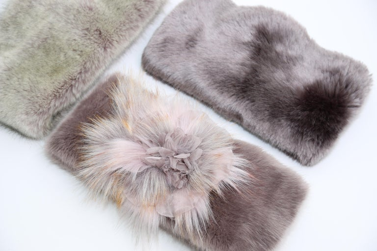 Pelush Faux Fur Scarfs And Hats - Set of 5 - One Size - Get One Free! For Sale 10