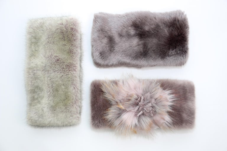 Women's or Men's Pelush Faux Fur Scarfs And Hats - Set of 5 - One Size - Get One Free! For Sale
